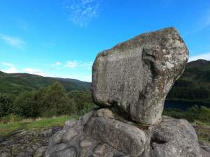 Bruces Stone with Glentrool in the background