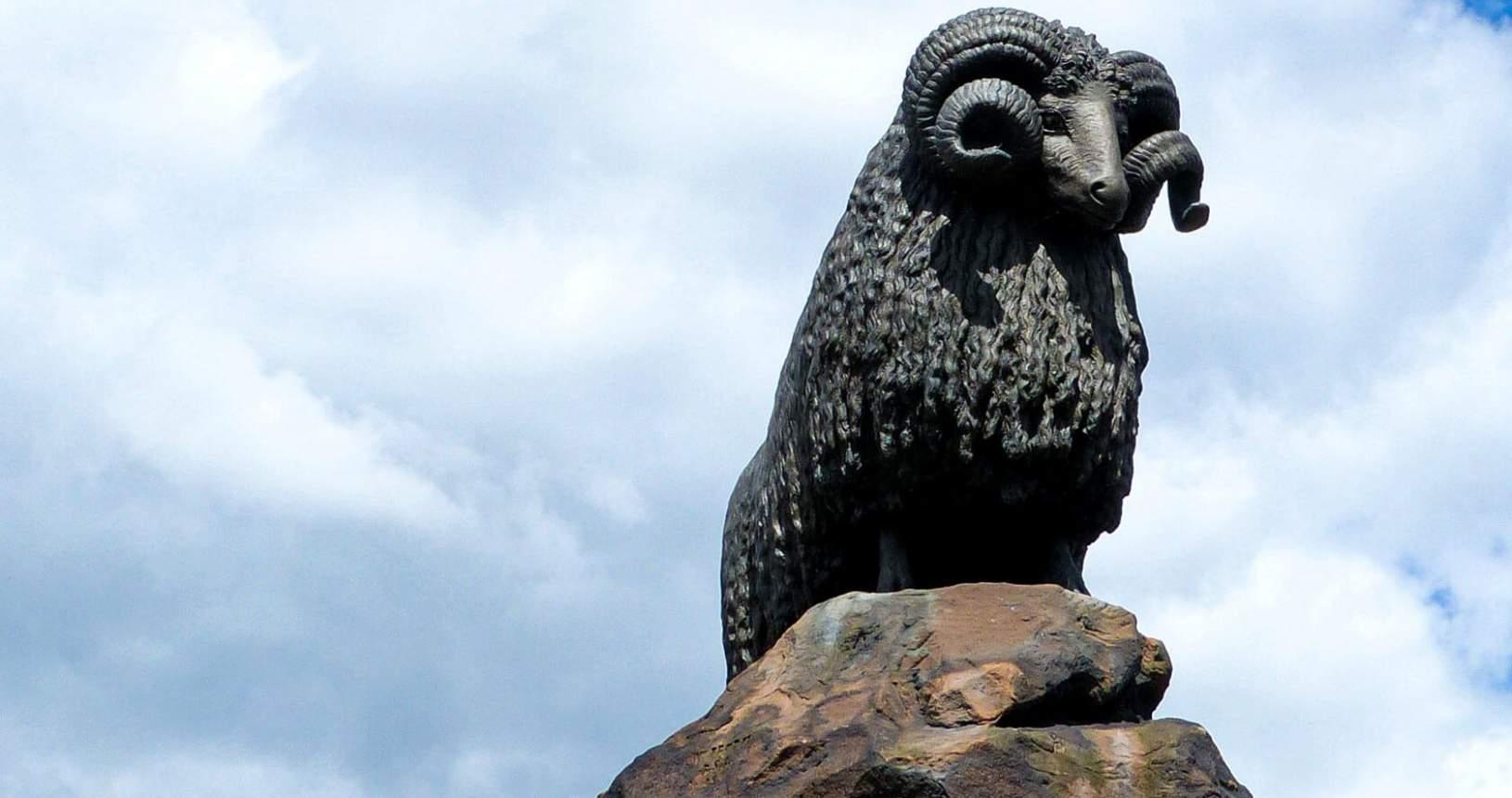 Moffat Ram Statue