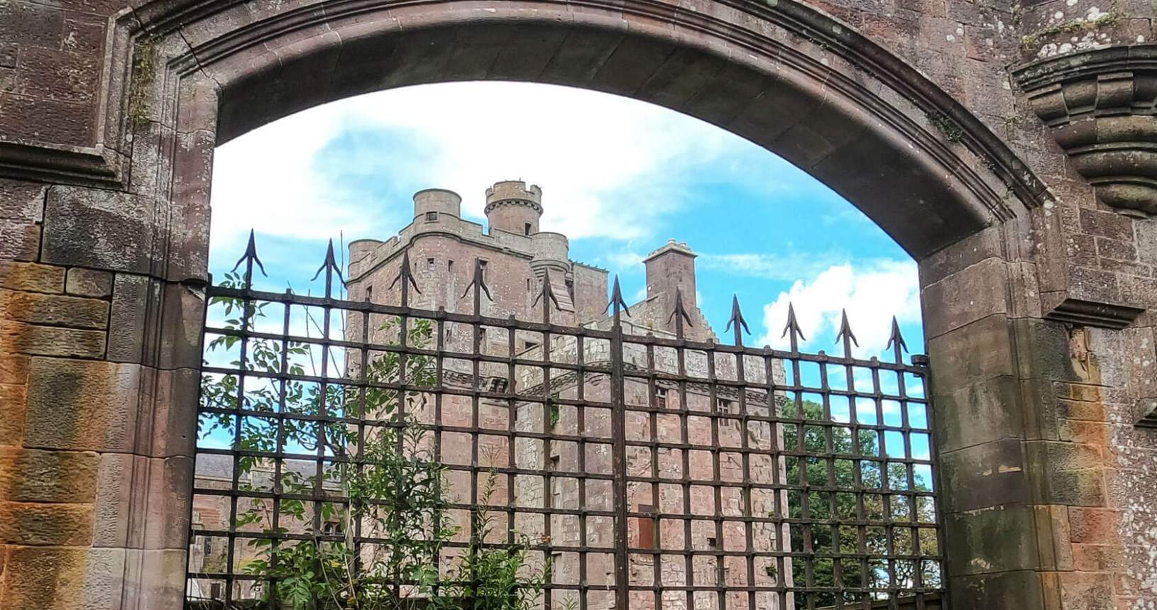 Hoddom Castle Gate