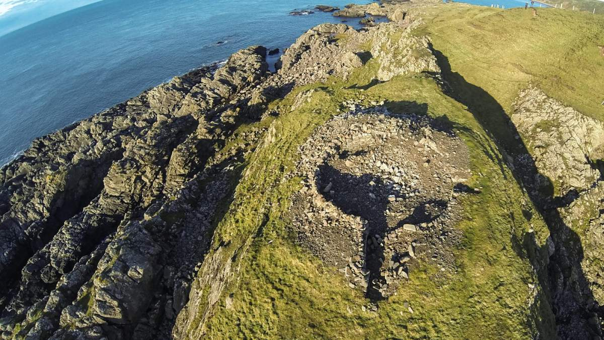 Doon Castle Ruins from above
