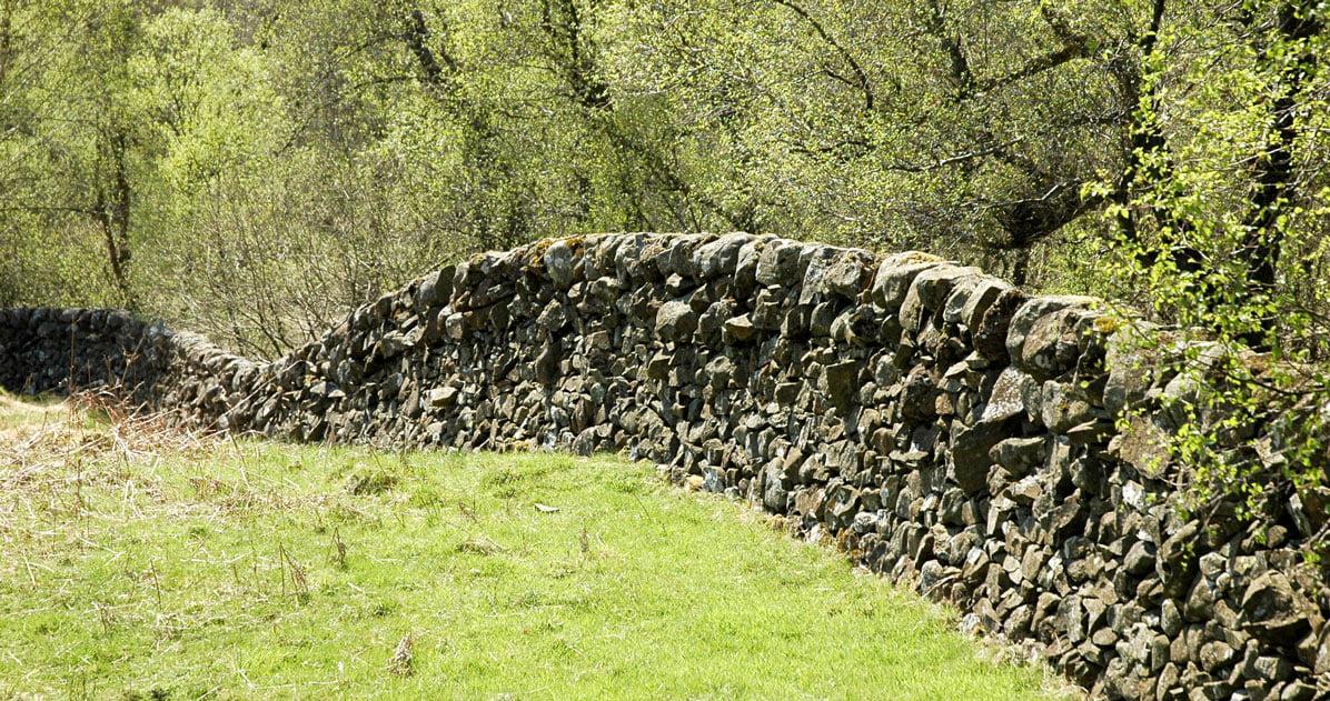 Stone wall on Waterside Hill